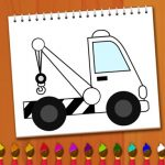 Coloring Book: Excavator Trucks