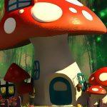 Funny Mushroom Houses Jigsaw